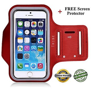 + FREE Screen Protector Eco-Friendly Tribe Sports Running Armband + Key Holder Anti Slip Sweat Resistant For Apple iPhon