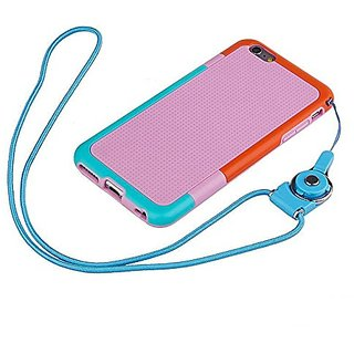 SOSAM IPhone 6 Case Dual Color TPU Shockproof Protective Bumper Case Shell With Lanyard Detachable Phone Neck Lanyard ,