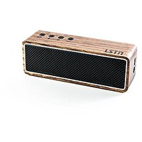 LSTN Apollo Zebra Wood Dual-Driver Portable Bluetooth Speaker With Built-in Microphone