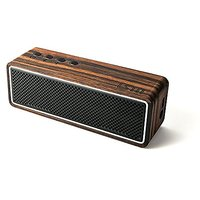 LSTN Apollo Ebony Wood Dual-Driver Portable Bluetooth Speaker With Built-in Microphone