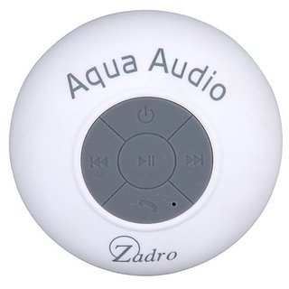 Zadro The Original Aqua Audio Water Resistant Bluetooth Wireless Shower Speaker, White