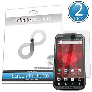 Infinite Products PhotonShield Screen Protection Film for Motorola DROID Bionic - 2 Pack - Retail Packaging - Anti-Glare