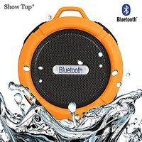 ShowTop® Wireless Bluetooth 3.0 Waterproof Outdoor / Shower Speaker, With Suction Cup/Mic (Orange)