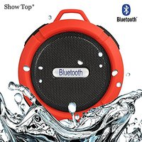 ShowTop® Wireless Bluetooth 3.0 Waterproof Outdoor / Shower Speaker, With Suction Cup/Mic (Red)