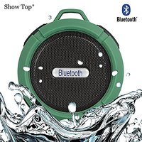 ShowTop® Wireless Bluetooth 3.0 Waterproof Outdoor / Shower Speaker, With Suction Cup/Mic (Army Green)