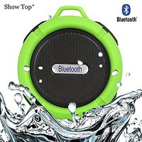 ShowTop® Wireless Bluetooth 3.0 Waterproof Outdoor / Shower Speaker, With Suction Cup/Mic (Green)