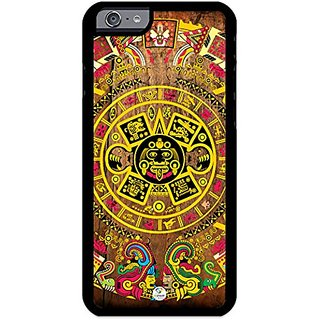 iZERCASE Rubber Case, Aztec Calendar on wood, Fits iPhone 6, iPhone 6S TMobile, Verizon, AT&T, Sprint & International