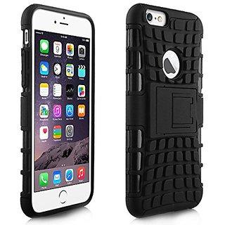 Alienwork Case for iPhone 6 Plus/6s Plus Shock Proof Bumper Cover Stand Plastic black AP6P34-01