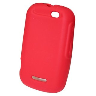 GO MC114 Soft Skin Rubber Protective Case for Motorola Clutch i475 (Boost) - 1 Pack - Retail Packaging - Red