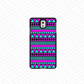 krezy case Galaxy Note 4 case- pink & blue aztec pattern samsung Galaxy Note 4 case- Cute Note Case, Galaxy Note 4 Case