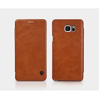 Nillkin Cell Phone Case for Samsung Galaxy Note 5 - Retail Packaging - Brown