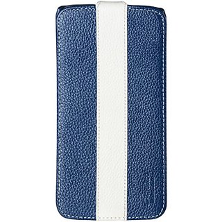 Melkco - Premium Leather Case for LG Optimus G Flex Limited Edition Jacka Type - (Dark Blue/White) - LGFLEXLCJM1DBWELC
