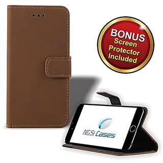 Iphone 6 4.7-inch - NGSi Wallet Carrying Leather Mobile Case for iPhone 6 4.7-inch - Elegant & Gentle PU Leather Made of