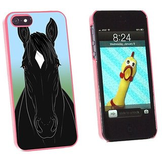 Graphics and More Horse Black White Diamond Snap-On Hard Protective Case for Apple iPhone 5/5s - Non-Retail Packaging
