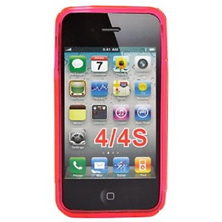 DECORO DLCIP4HP Premium Lunar TPU Case for Apple iPhone 4/4S - 1 Pack - Retail Packaging - Transparent Hot Pink