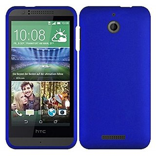 HR Wireless HTC Desire 510 Rubberized Cover Case -- Retail Packaging - Blue