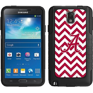 Coveroo Alabama Lined Chevron Design Phone Case for Samsung Galaxy Note 3 - Retail Packaging - Black