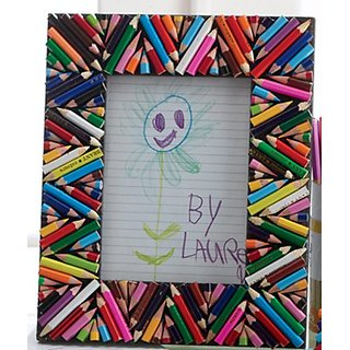 Colorful Diagonal Pencils 5 x 7 Photo Frame