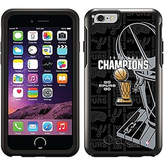 Coveroo Symmetry Series Cell Phone Case for Iphone 6 - Retail Packaging - San Antonio Spurs Champions 2014 design