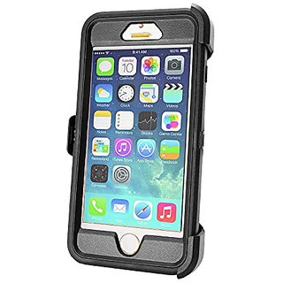 Natico Cell Phone Case for iPhone 6 Plus - Retail Packaging - Black/Smoky Black