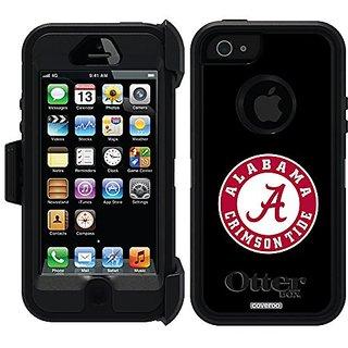 Coveroo Alabama Crimson Tide Design Phone Case for iPhone 5/5s - Retail Packaging - Black/Black