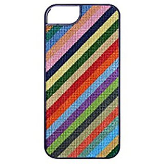 Smathers & Branson iPhone 6 Hand-stitched Needlepoint Case - Parsons Stripe (I6-06)
