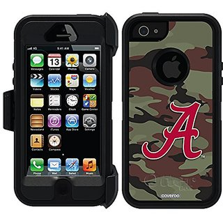 Coveroo Alabama Camo A Design Phone Case for iPhone 5/5s - Retail Packaging - Black/Black