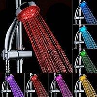 Luxury Shower PartyvGift Pack 7-color LED Hand Shower With 7-setting New Slimline Waterproof Bluetooth Shower Speaker Av