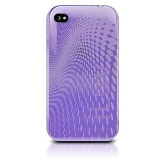 iLuv WAVE TPU Case for iPhone 4 - Purple - Fits AT&T iPhone