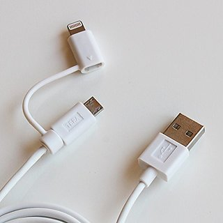 Tera Grand - Apple MFi Certified 2-in-1 USB Sync & Charge Cable with Lightning and Micro USB Connectors for iPhone, iPad