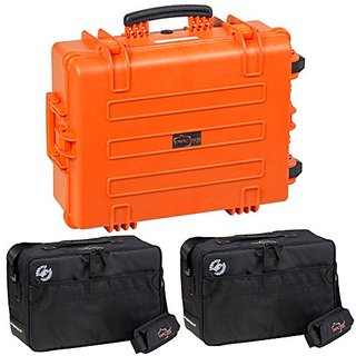 Explorer Cases 5823KT0 5822 Case with Custom Removable Padded Divider Bag for Cameras or Similar Electronic Gear and Org