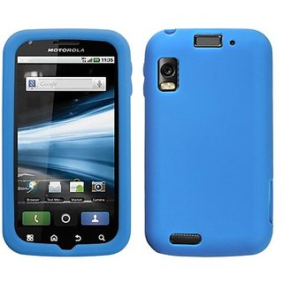 MyBat Solid Skin Cover for Motorola MB860 (Olympus/Atrix 4G) - Retail Packaging - Blue