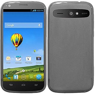 HR Wireless Frosted TPU Cover for ZTE WARP SYNC N9515 - Retail Packaging - Smoke