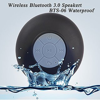 Aicase Mini Waterproof Wireless Shower Bluetooth 3.0 Speaker, Handsfree Speakerphone with Builtin-Mic, Dedicated Suction