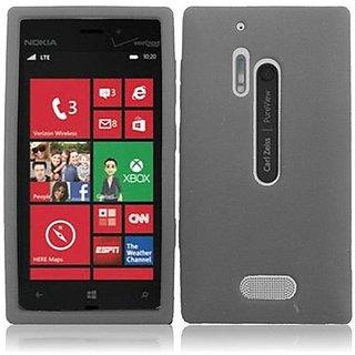 HR Wireless Nokia Lumia 928 Silicone Skin Cover - Retail Packaging - Smoke