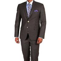 Merakapda Men'S Brown Comfort Fit Formal Trousers