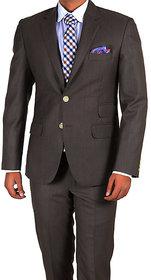 Merakapda Men's 3 Meter Brown Suit Length (Unstitched Fabric)