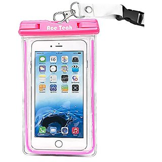Waterproof Case,Ace Teah Clear Universal Waterproof Case, Pouch Perfect Dry Bag / Extreme Durable Snowproof Dirtproof Pr