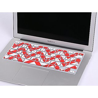 Keyboard Cover, Mosiso Chevron Zig-Zag Keyboard Cover Silicone Skin for MacBook Air 13