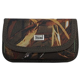 Reiko Reiko M Size Horizontal Rugged Pouch W/ Card Holder - Natural Pattern - Carrying Case - Retail Packaging - Multi