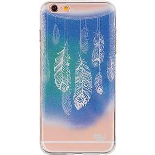 SLectionAccess Watercolor IMD Design TPU Skin Case for iPhone 6S, 6 - Retail Packaging - Dancing Feather