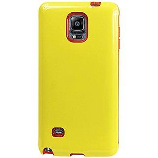 Reiko Dual Layer TPU/PC Protector Cover for Samsung Galaxy Note 4 N910V, N910P, N910T, N910R4 - Retail Packaging - Yello