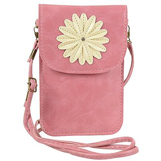 Sumaclife Pu Leather Flower Pouch Case Bag With Shoulder Strap for Apple iPhone 6S Plus / iPhone 6 Plus / iPhone 6S / iP