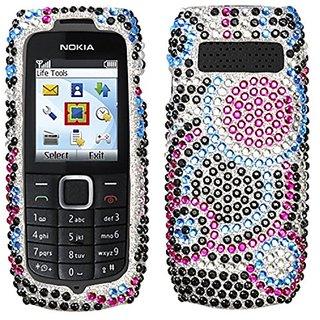 MyBat Diamante Protector Cover for Nokia 1616 - Retail Packaging - Bubble