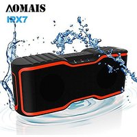 Waterproof IPX7 Wireless Bluetooth Speakers, AOMAIS Sport Outdoor/Shower Portable Bluetooth Speakers With 10W Enhanced B