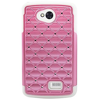 Reiko Premium Hybrid PC and Silicone Double Protection Diamond Case for LG Tribute LS660, LG F60 D390N - Retail Packagin