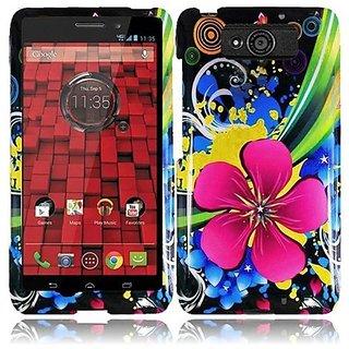HR Wireless Motorola Droid Maxx/XT-1080M/Droid Ultra XT-1080 Design Cover - Retail Packaging - Eternal Flower
