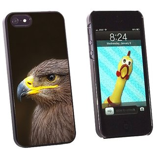 Graphics and More Golden Eagle - Snap-On Hard Protective Case for Apple iPhone 5/5s - Non-Retail Packaging - Black