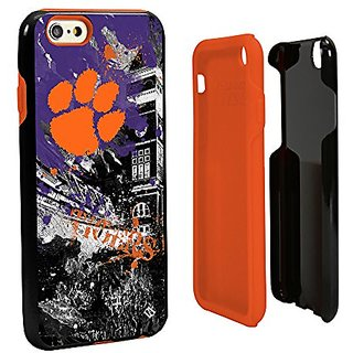 NCAA Clemson Tigers Paulson Designs Spirit Hybrid Case for iPhone 6, One 6, Black