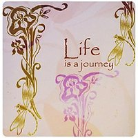 3dRose LLC 8 X 8 X 0.25 Life Is A Journey Dragonfly And Irises Mouse Pad (mp_79295_1)